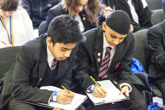 Secondary boys writing