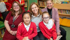 Adele - Newham Bridge Primary school library group shot.jpg