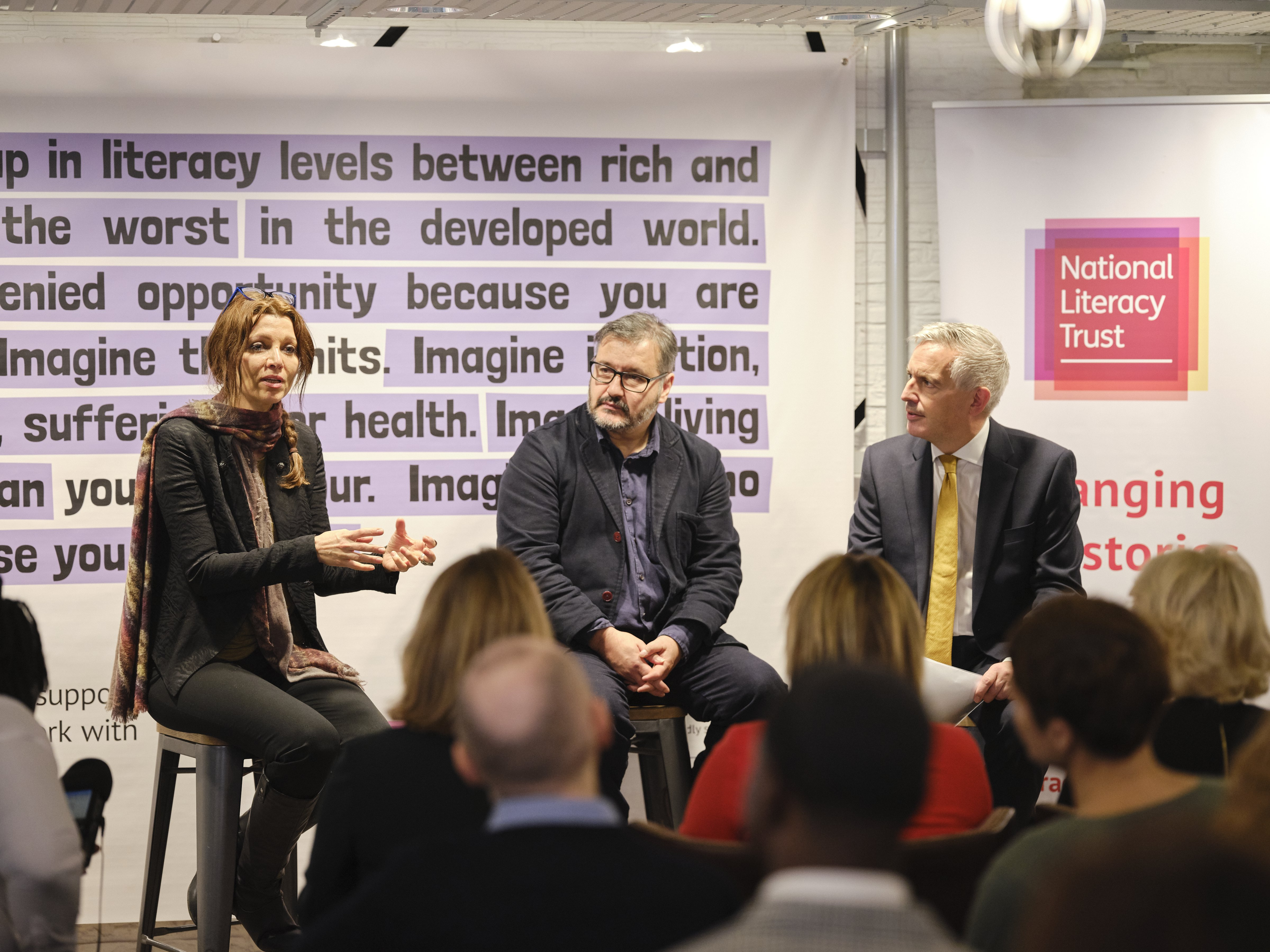 Elif Shafak and Peter Florence at Booker Prize event
