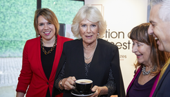 HRH The Duchess of Cornwall with Literacy Latte at Booker Prize event