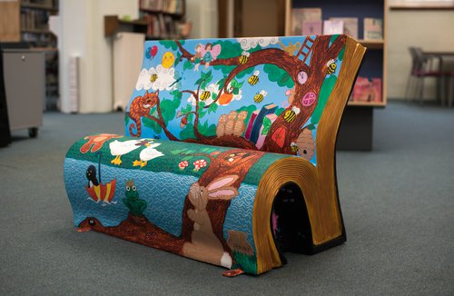 Magic Hideaway Bench - Withington library