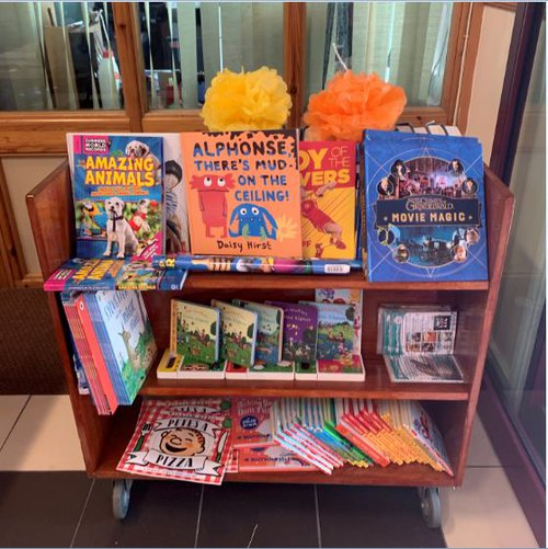 Feast of Fun book display.JPG