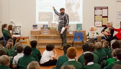 Graeme Quinnell spoke to pupils in a special assembly.jpg