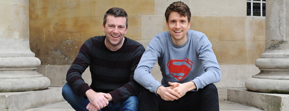Greg James and Chris Smith - credit Jenny Smith