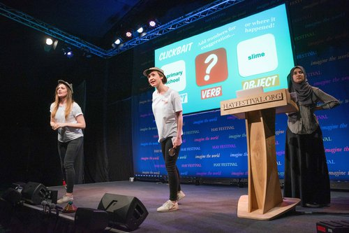 NewsWise at Hay Festival on stage