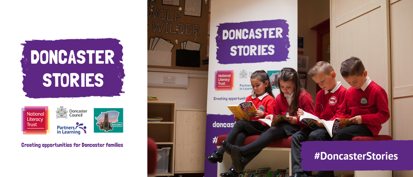 Doncaster Stories temporary banner