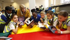 Young Readers Programme children with volunteer