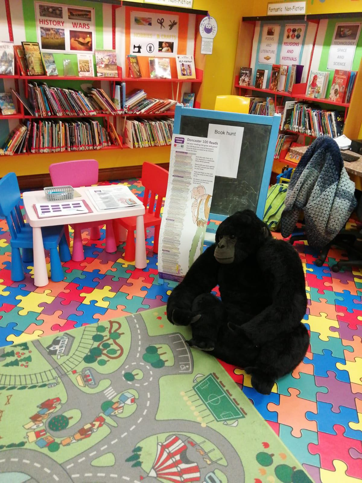 Graham gorilla reading for pleasure libraries