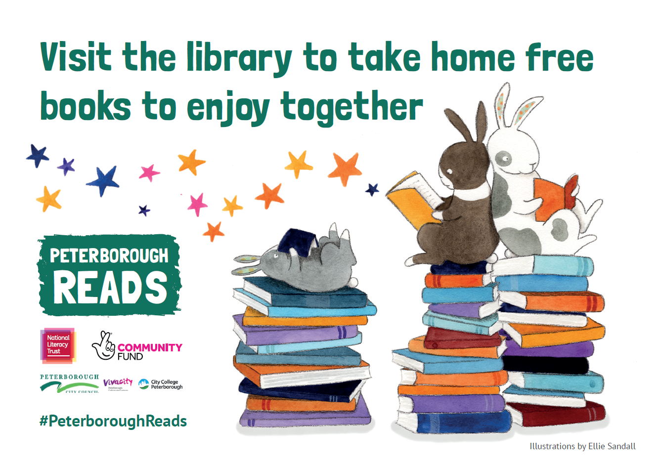 Visit the library to take home free books together