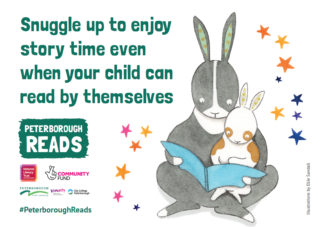 Snuggle up to enjoy story time even when your child can ready  by themselves
