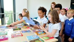 Pupils choose brand new books to take home at Orbital Shopping, Swindon.jpg