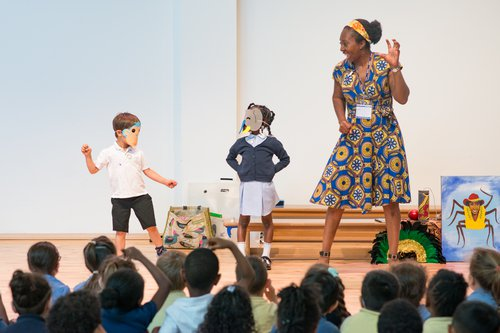 Pupils enjoy some storytelling with London based Wendy Shearer.jpg