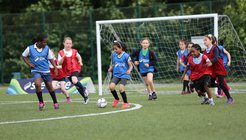 Girls playing football FA