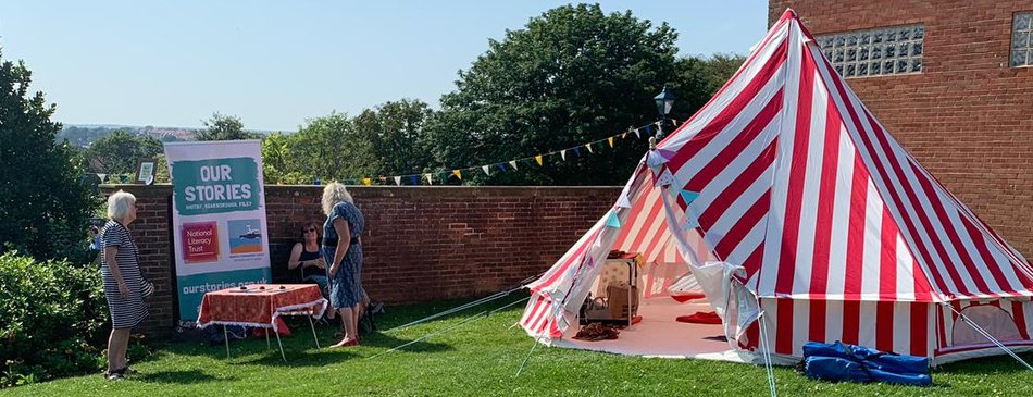 Whitby Literacy Champions storytelling tent