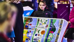 Stoke Reads BookBenches launch event children