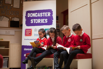 Doncaster Stories - children loving books