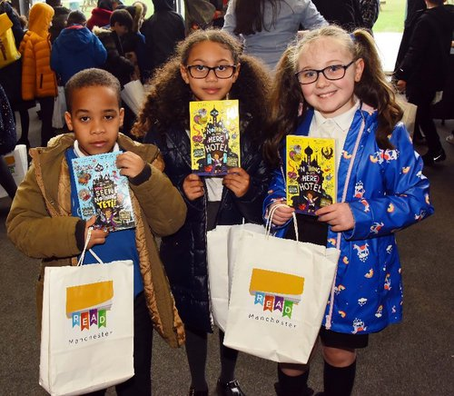 Children receive books on World Book Day