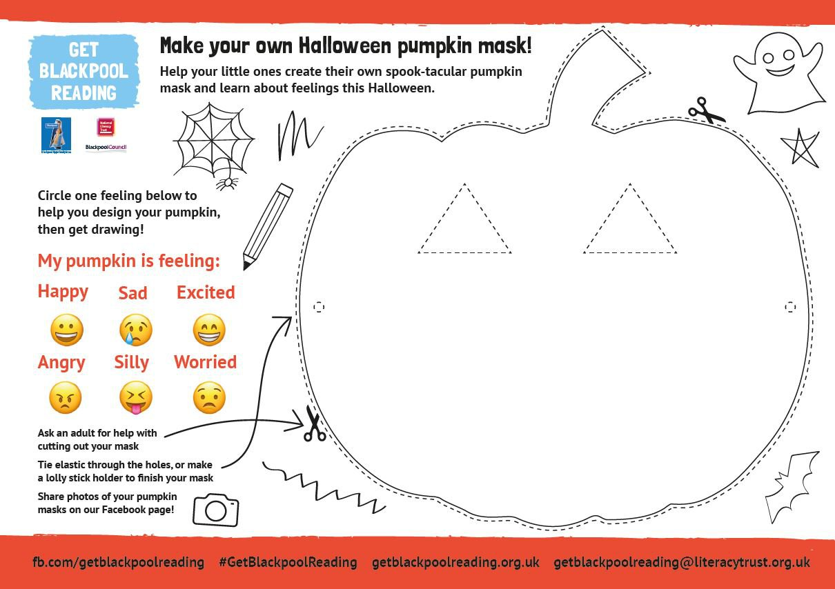 Halloween pumpkin mask activity for early years