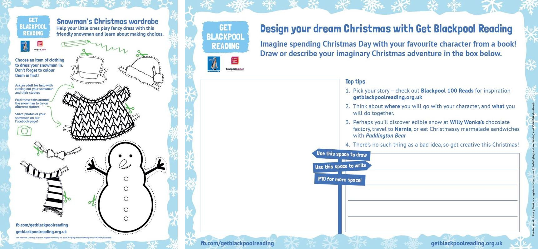 Blackpool Christmas activity sheets